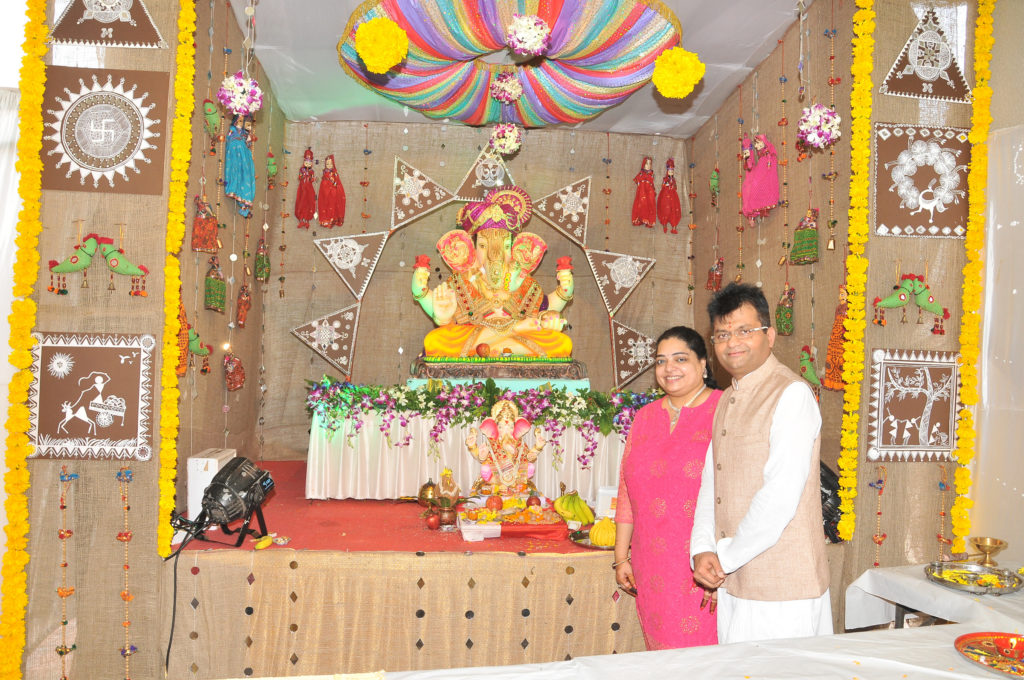 3. Dr. Aneel Murarka and Wife Sangeeta Murarka celebrating Ganesh Chaturthi