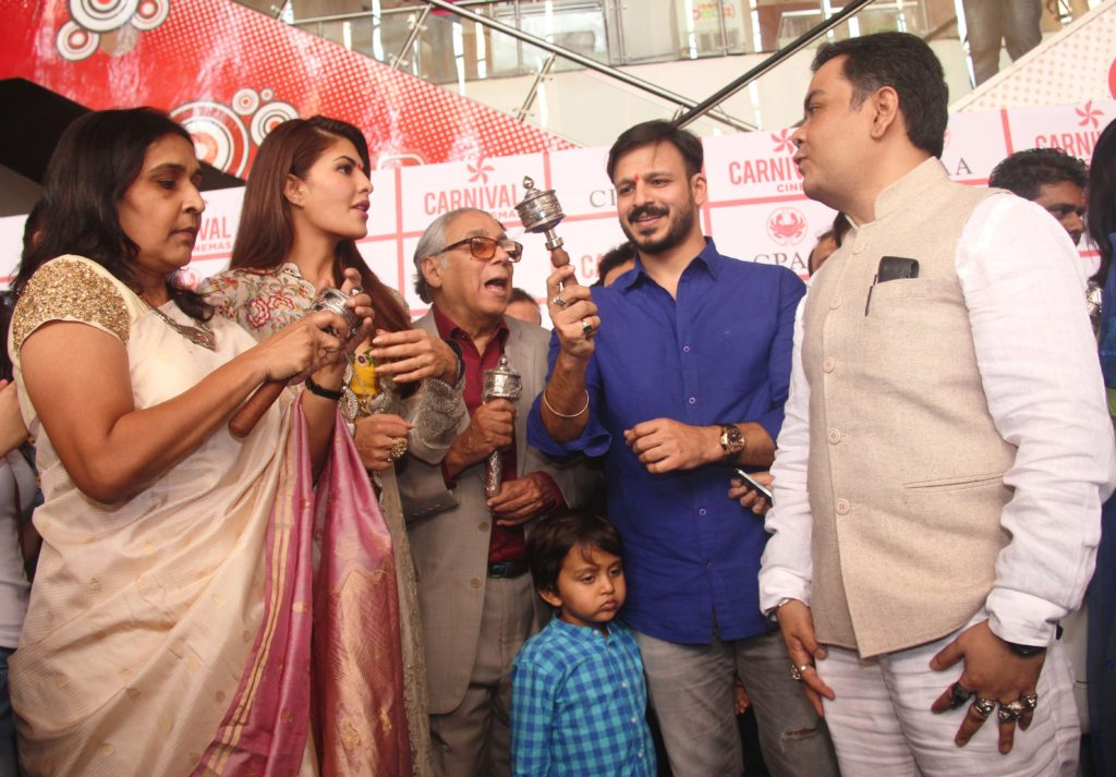 Prod Rita Jhawar, Jacqueline Fernandes, YB Sapru, Vivek Oberoi and director Sudeep Ranjan Sarkar at the CPAA event