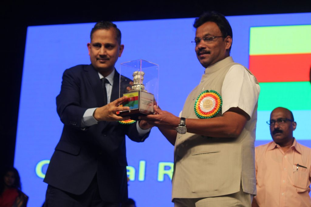 1. Shri. Vinod Tawde being Felicitated by Shri. Manju Bala IMG_0219