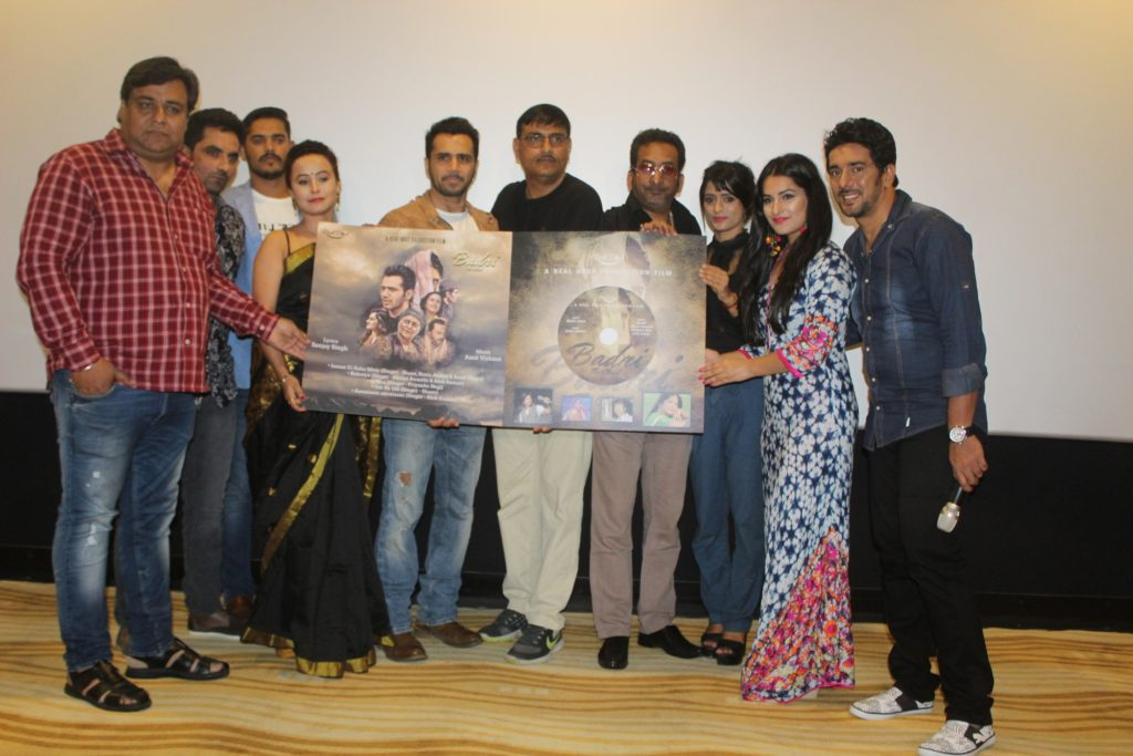 2. Amit (Music Director), Sanjay Singh, Priyanka Negi (Singer), Hemant Pandey, Nirmala J Chandra, Nidhi Nautiyal, & Chirag Thakkar During Music Launch of the Film Badri The Cloud