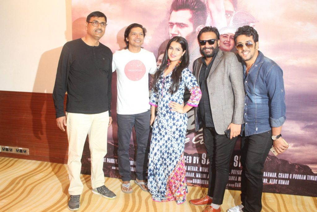 5. Sanjay Singh (Producer - Director), Shaan, Priyanka Negi, Varun Prabhudayal Gupta, during Music Launc of the film Badri The Cloud IMG_0075