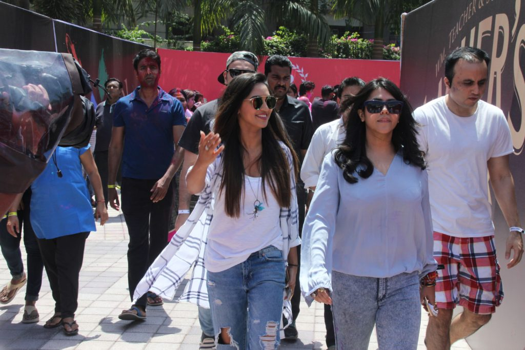 Krystle D'Souza and Ekta Kapoor @ Holi Invasion